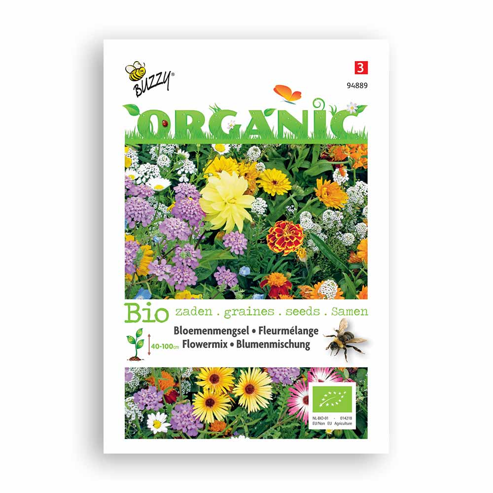 Buzzy® Organic Bees Flower Seed Mix