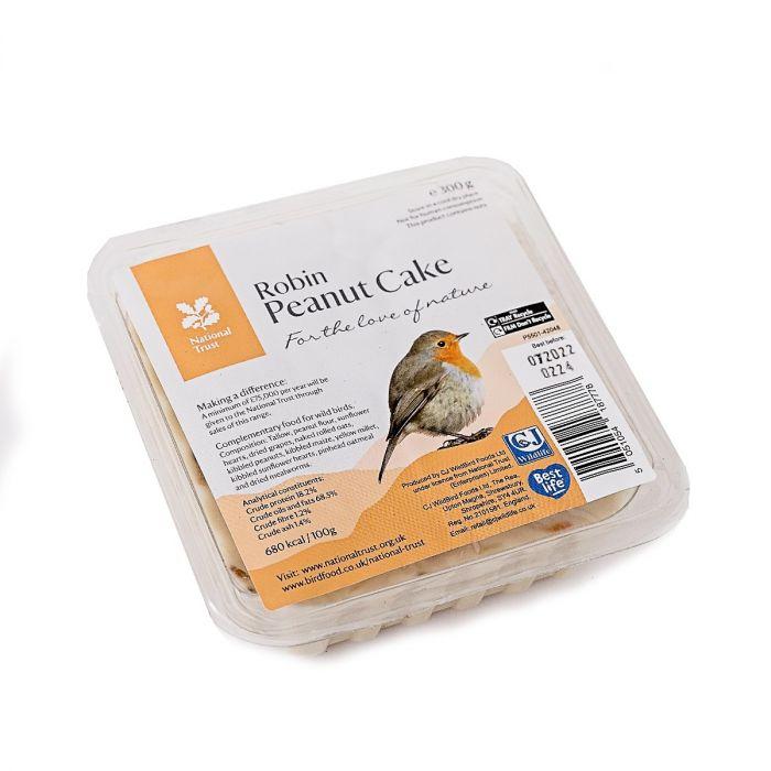 National Trust Gourmet Robin 300g Peanut Cake