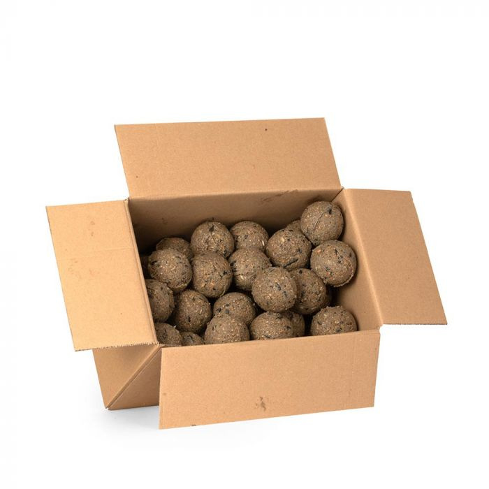Box of 50 fat balls with insects