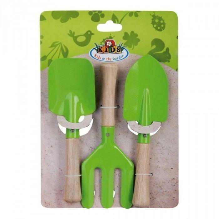 Child's Green 3pc Gardening Set