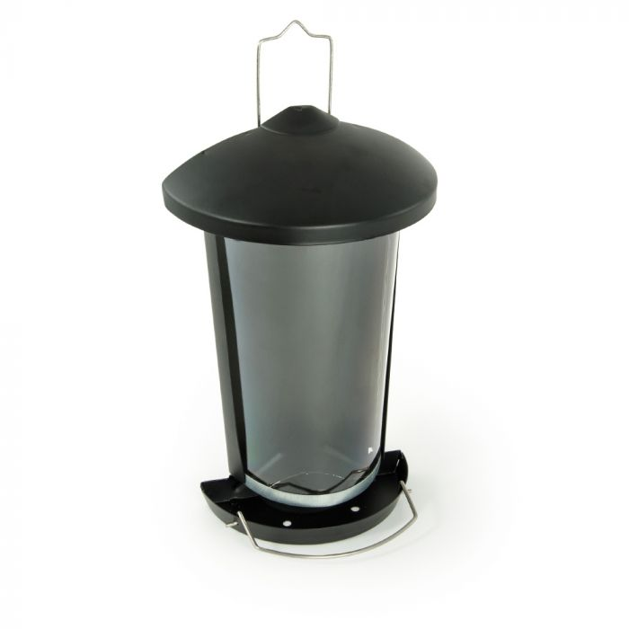 Delta Seed and Mealworm Feeder Black