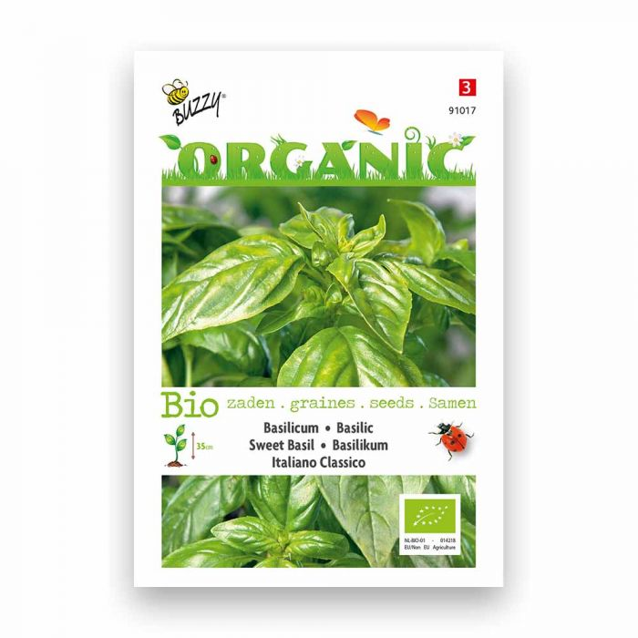 Buzzy® Organic Sweet Basil Seeds - Italiano Clas