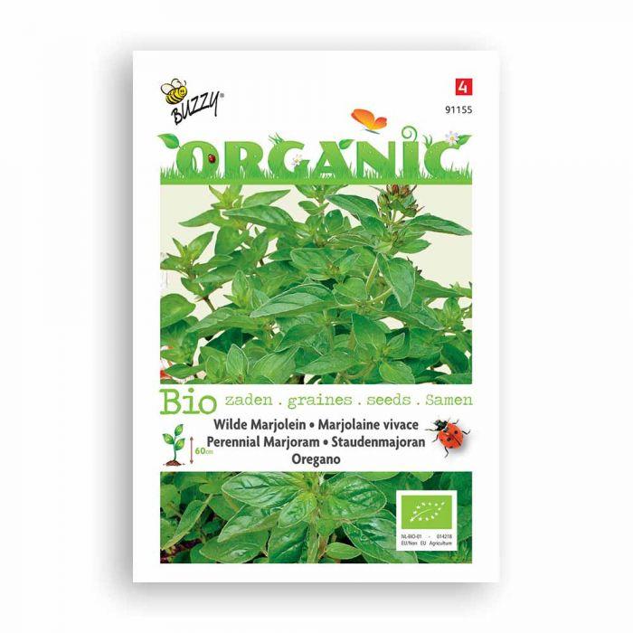 Buzzy® Organic Perennial Marjoram - Oregan Seeds