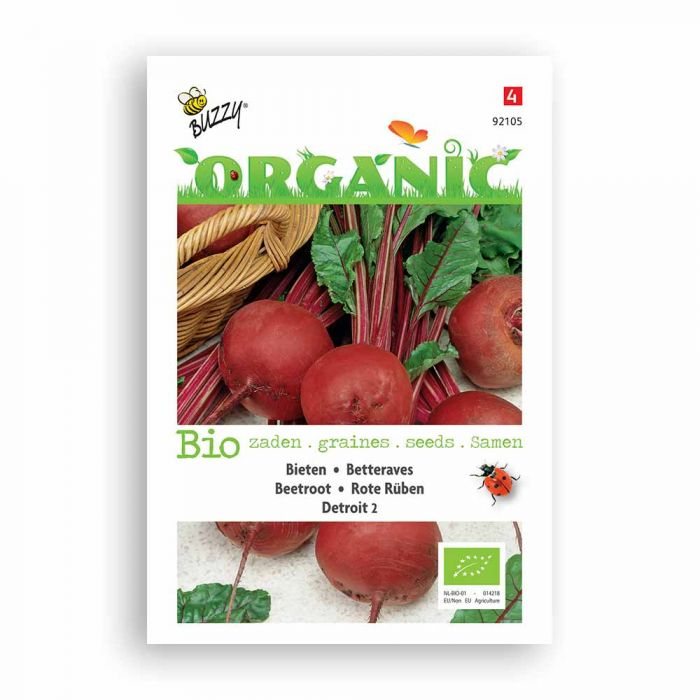 Buzzy® Organic Beetroot Seeds - Detroit
