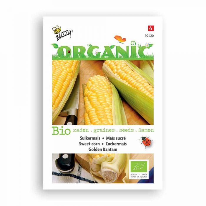 Buzzy® Organic Sweet Corn Seeds - Golden Bantam