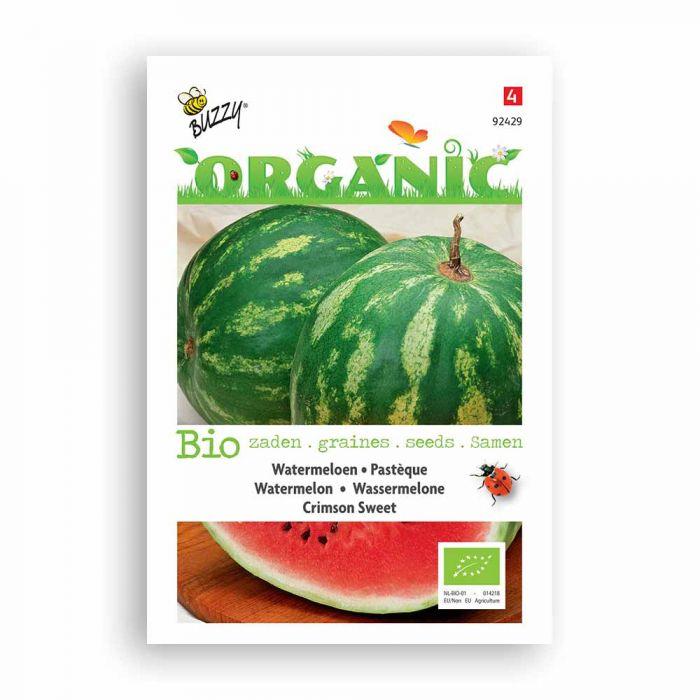 Buzzy® Organic Watermelon Seeds - Crimson Sweet