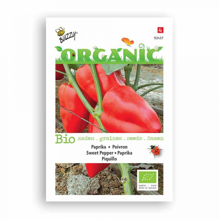 Buzzy® Organic Sweet Pepper Seeds - Piquillo