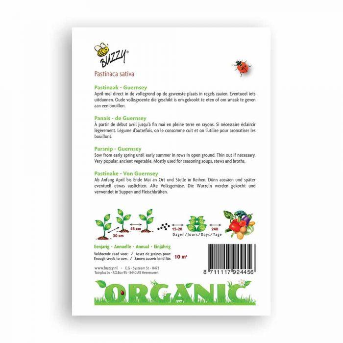 Buzzy® Organic Parsnip Seeds - Geurnsey