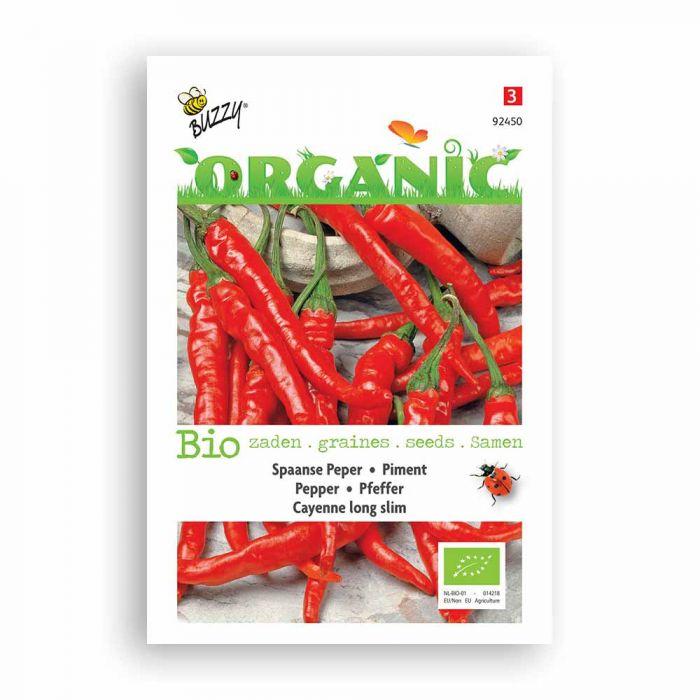 Buzzy® Organic Pepper Cayenne Seeds - Long Slim