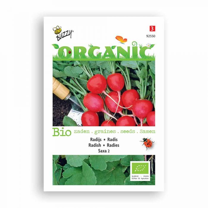 Buzzy® Organic Radish Seeds - Saxa 2