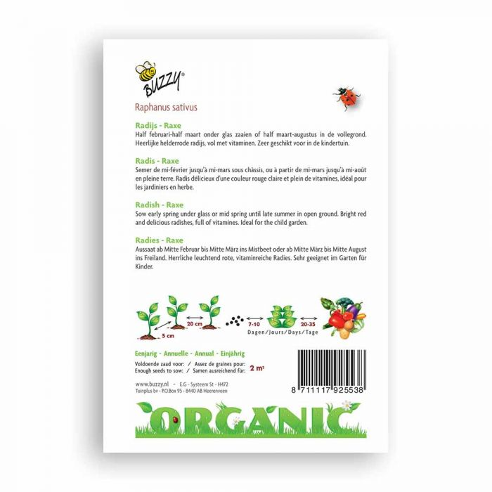 Buzzy® Organic Radish Seeds - Raxe