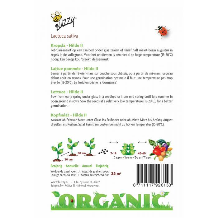Buzzy® Organic Lettuce Seeds - Hilde II