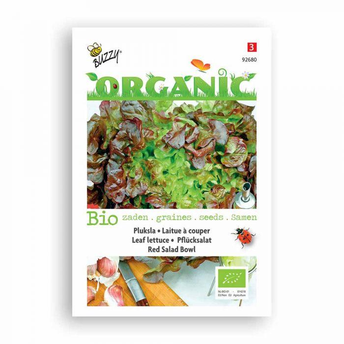 Buzzy® Organic Leaf Lettuce Seeds - Red Salad Bowl