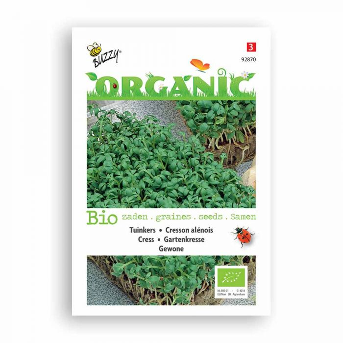 Buzzy® Organic Cress Seeds