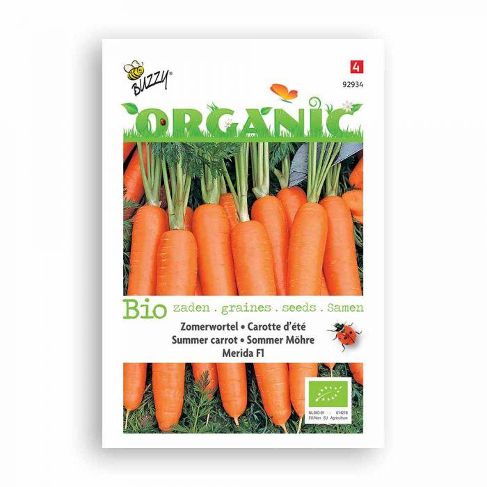 Buzzy® Organic Summer Carrot Seeds - Merida F1