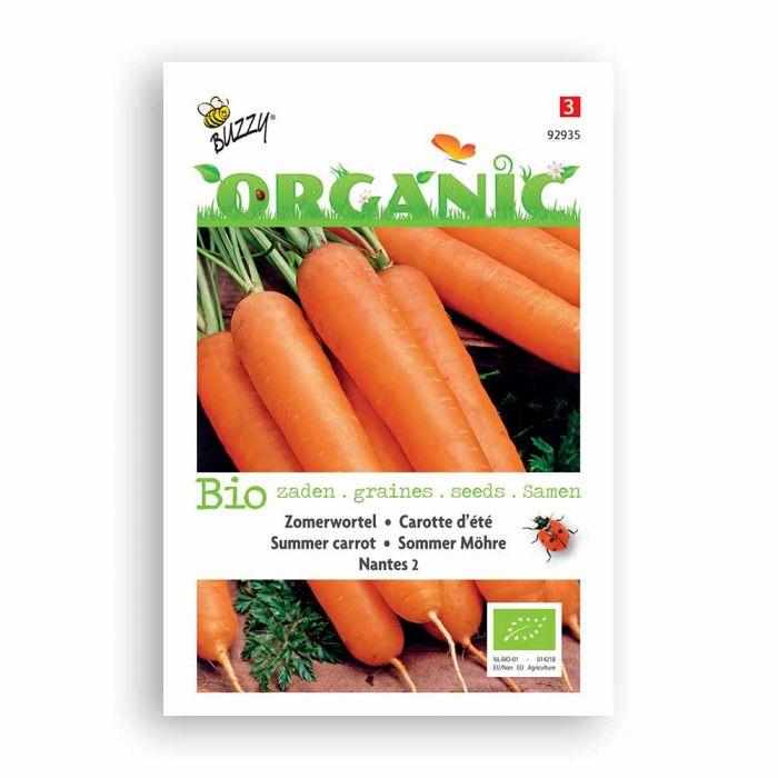Buzzy® Organic Summer Carrot Seeds -  Nantes 2