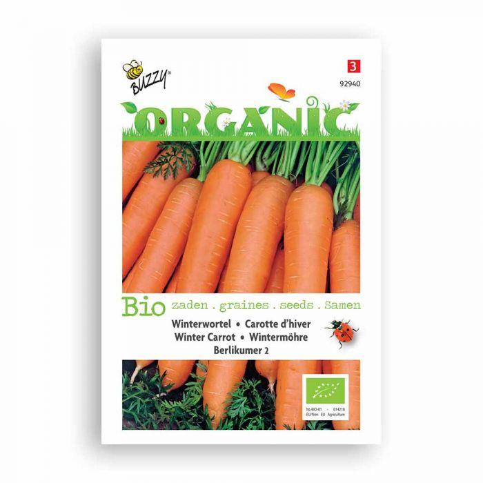 Buzzy® Organic Winter Carrot Seeds - Berlicum 2