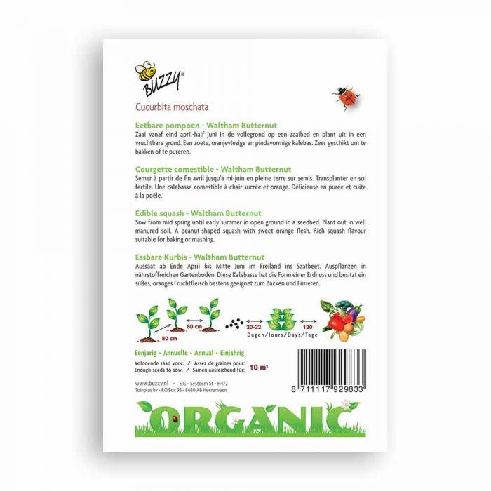 Buzzy® Organic Edible Squash Seeds - Waltham Buttern