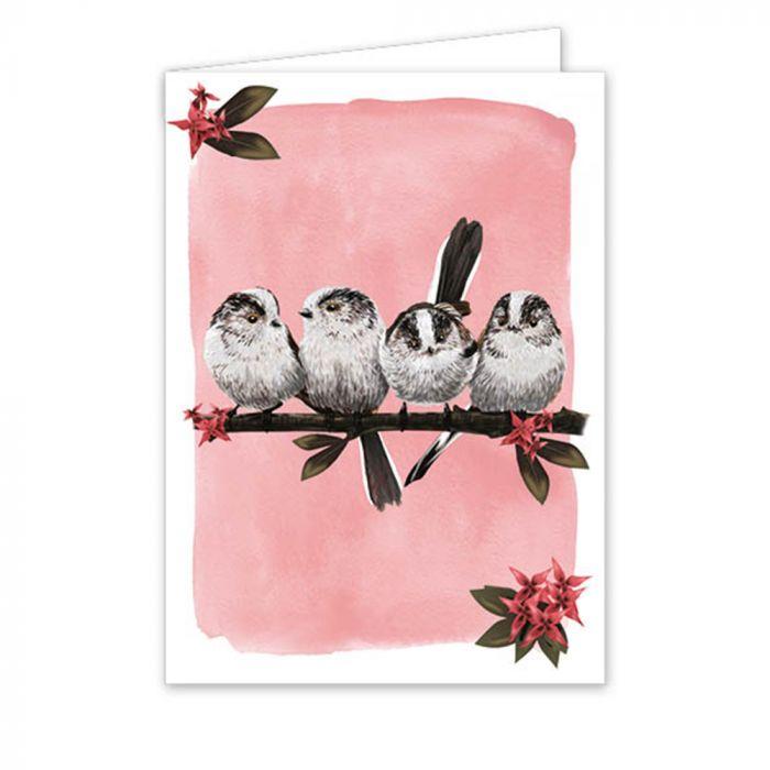 Myrte Long-Tailed Tit Greeting Card
