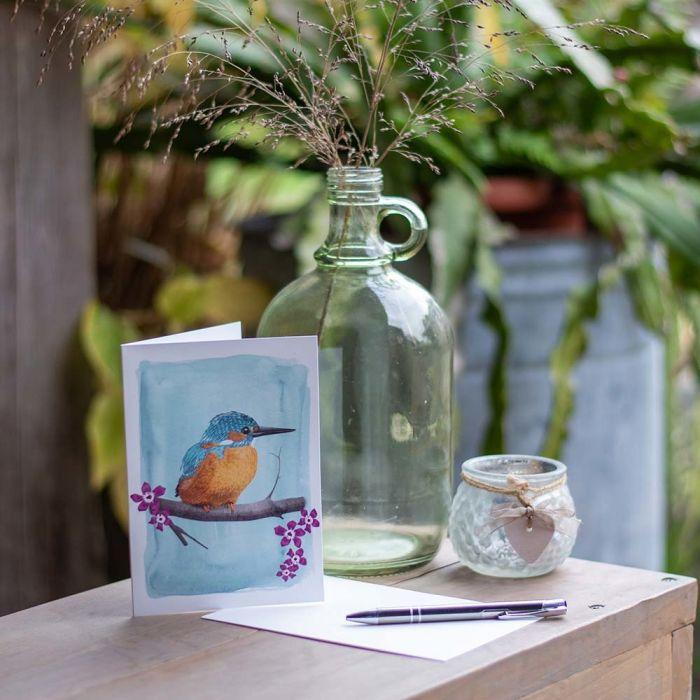 Myrte Kingfisher Card