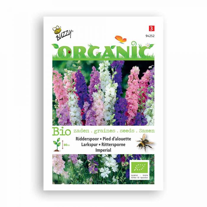 Buzzy® Organic Larkspur Seeds - Imperial