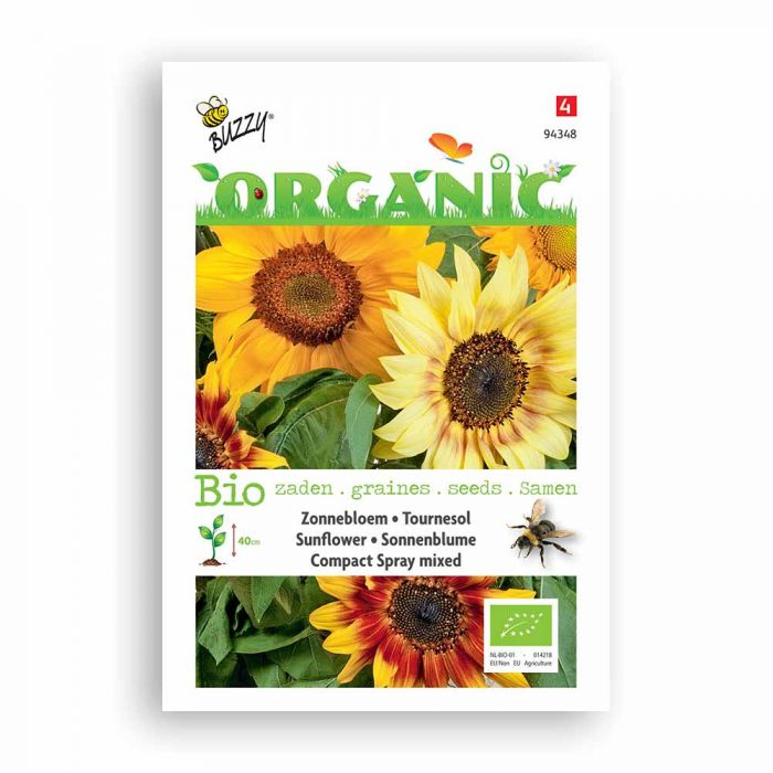 Buzzy® Organic Sunflower Compact Spray Seed Mix