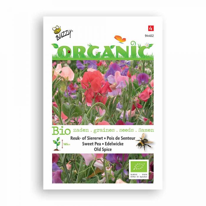 Buzzy® Organic Sweet Pea Seeds - Old Spice