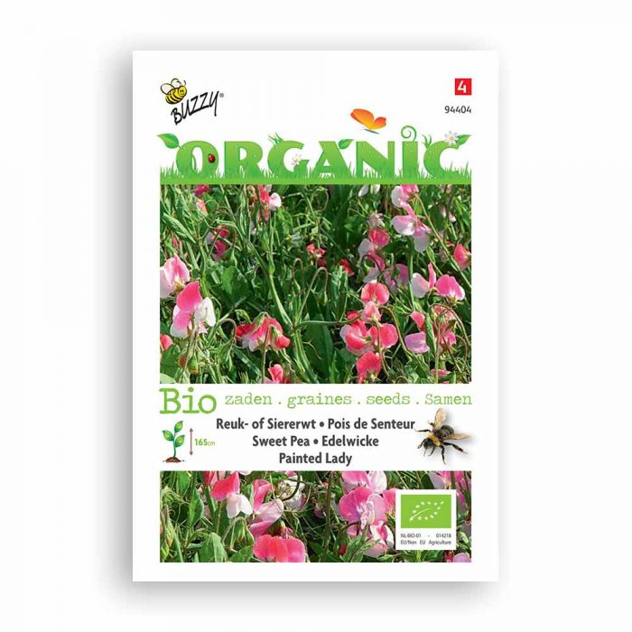 Buzzy® Organic Sweet Pea Seeds - Painted Lady