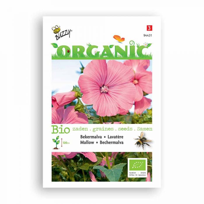 Buzzy® Organic Mallow Seeds - Rose/Red