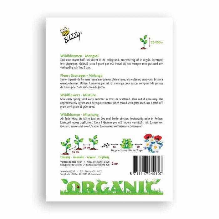 Buzzy® Organic Wildflower Seed Mixture