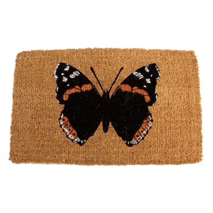Butterfly Doormat - Red Admiral