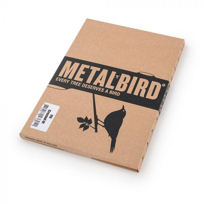 Crested Tit Metal Bird