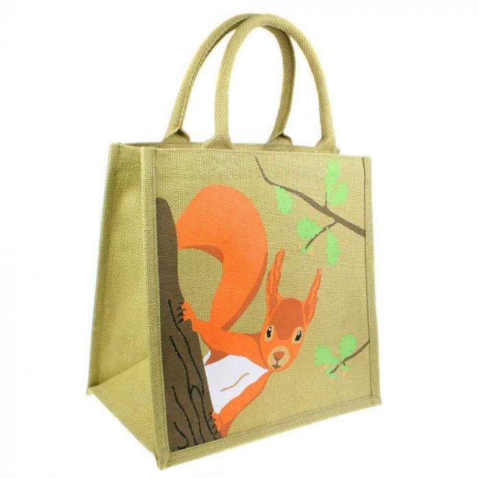 Squirrel Jute Shopping Bag