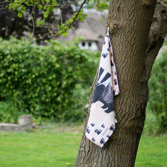 Myrte Badger Tea Towel