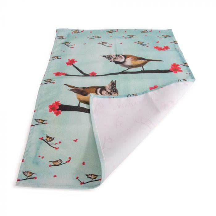 Myrte Crested Tit Tea Towel