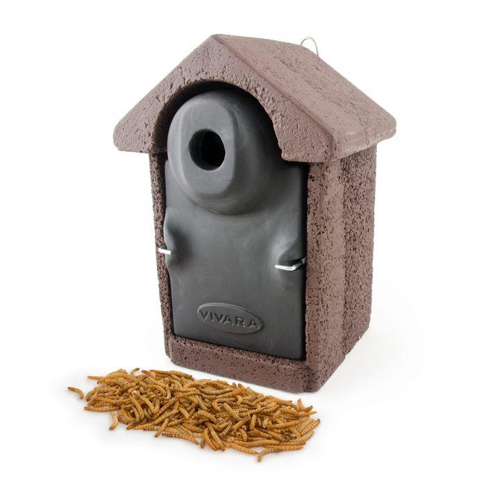 BilBao Woodstone® Nest Box with Dried Mealworms