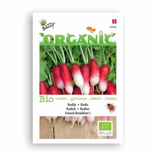 Buzzy® Organic Radish Seeds - French Breakfast 3