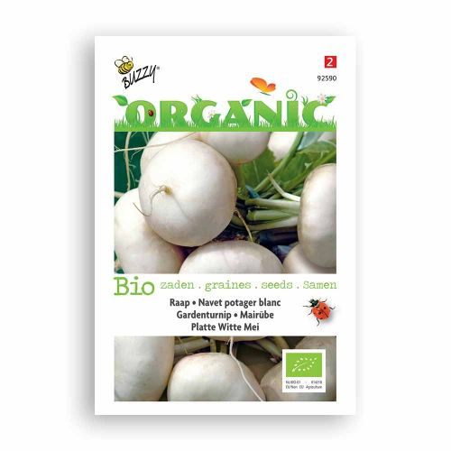 Buzzy® Organic Garden Turnip Seeds - Pl Witte Mei