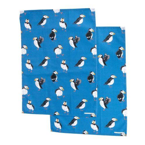 Roy Kirkham Puffin Tea Towel Set