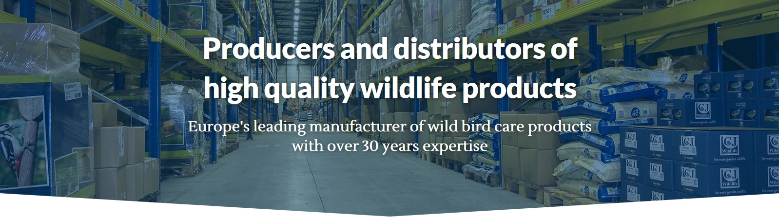 Europe's leading manufacturer of wild bird care products with over 30 years expertise